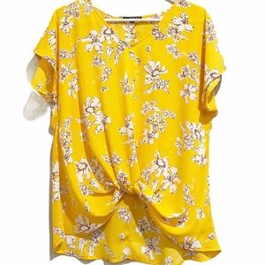 West Kei Yellow Floral Blouse